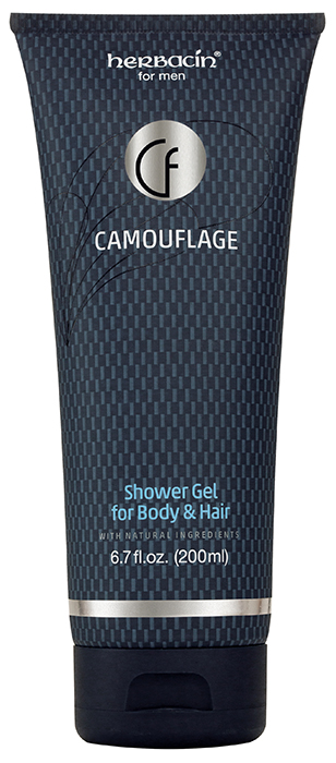 Herbacin for men Camouflage Shower Gel for Body & Hair