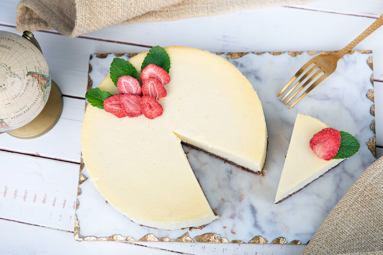 New York Cheesecake mit Xucker Knusperkeksen