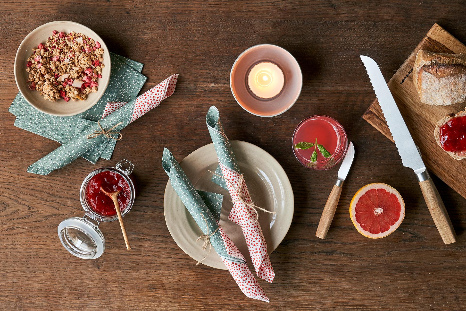 Was wäre ein hübsch gedeckter Frühstückstisch ohne Servietten?