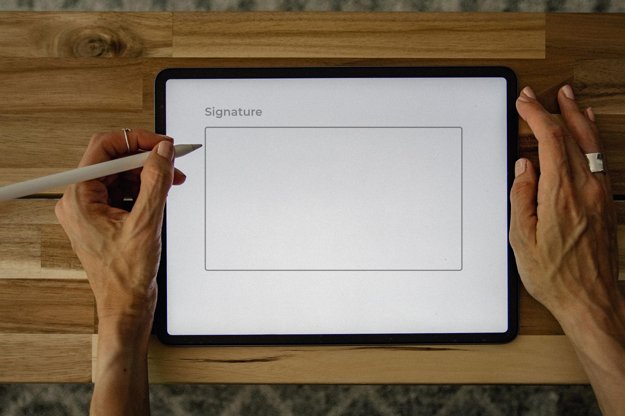 Signing an iPad