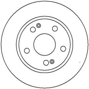 Bremseskive, for ( Hyundai, Santa / Trajet )