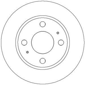 Bremseskive, for ( Hyundai, Coupe / Matrix / Elantra )