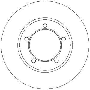 Bremseskive, for ( Daihatsu / Mercedes-Benz )