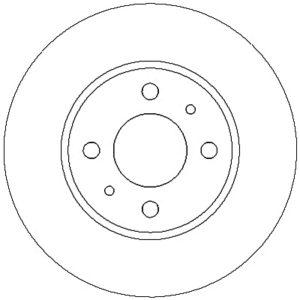 Bremseskive, for ( Fiat / Alfa Romeo / Lancia )