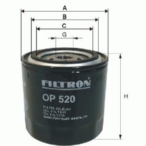 FILTRON Oliefilter ( Dodge, Ford, Chrysler, Jeep, MG )
