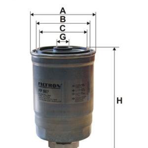 FILTRON Brændstoffilter ( Saab, Cadillac )