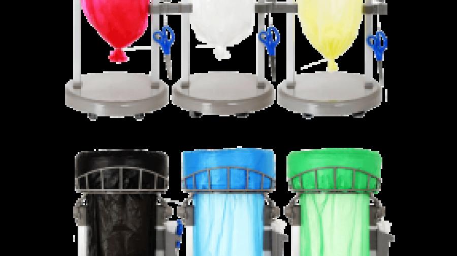farvede affaldsposer