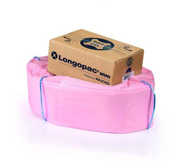 lyserød affaldspose