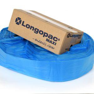 blå affaldspose