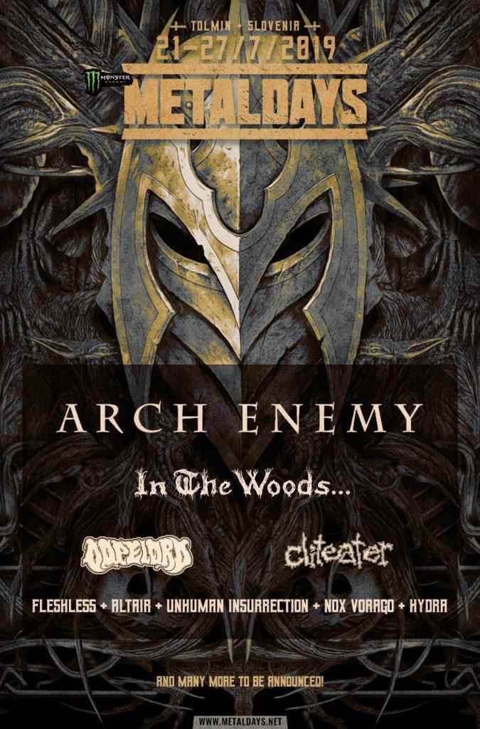 Arch Enemy to headline MetalDays 2019!