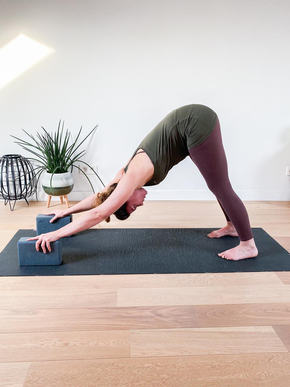 Down dog pose yoga