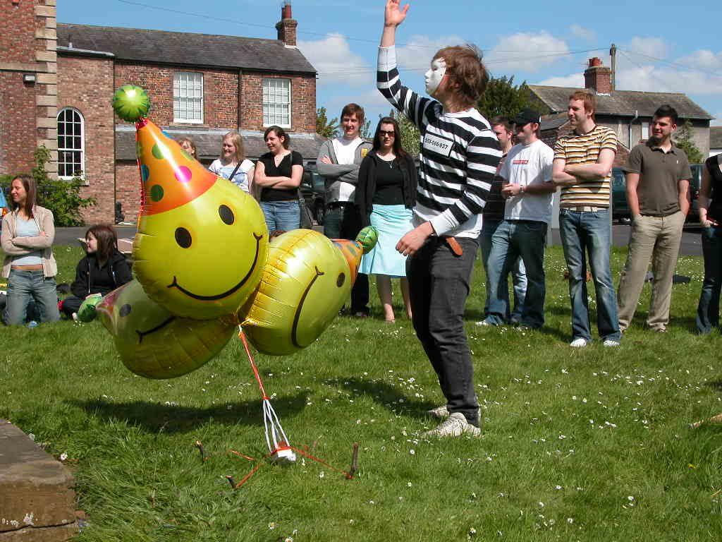 Egg Flinging at Cumbria University