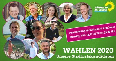 Liste Grüne Kandidaten Kommunalwahl 2020