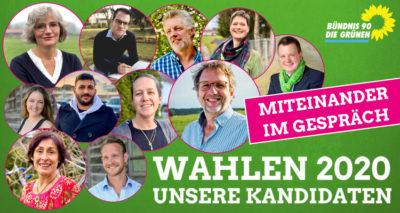 Wochenmarkt Wahlkampf Bündnis 90 / Die Grünen in Marktoberdorf