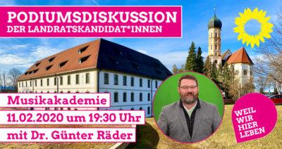 Podiumsdiskussion der Landratskandidaten Dr. Günter Räder