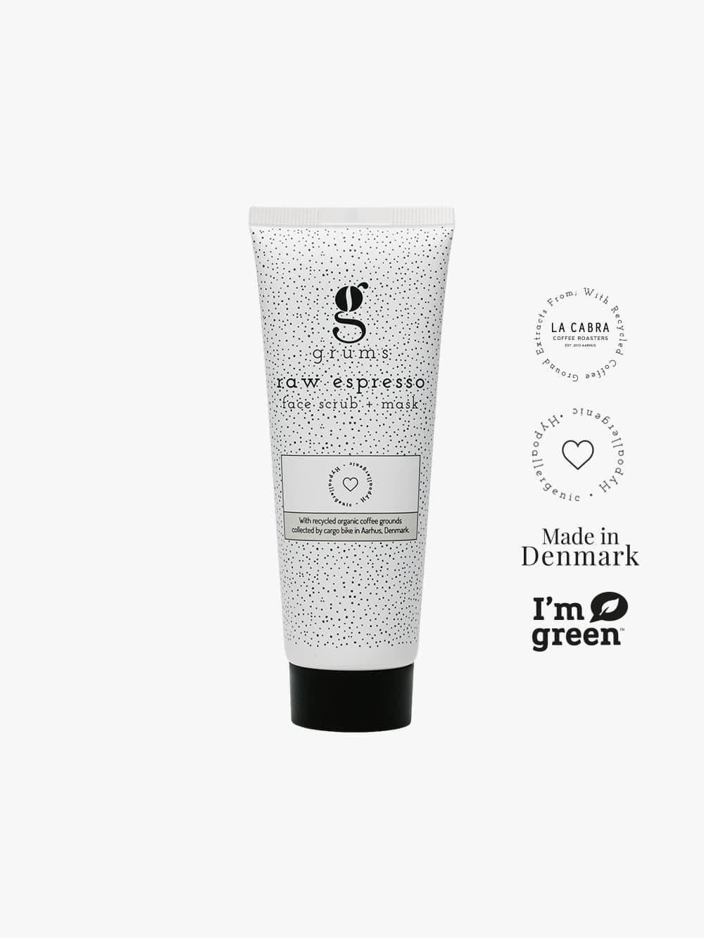 grums raw espresso face scrub mask