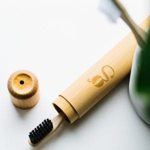 grums bamboo toothbrush case