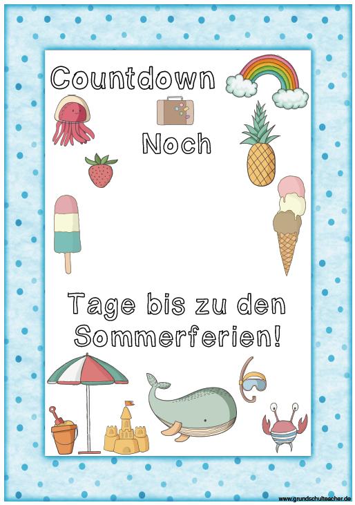Countdown bis zu den Sommerferien!!!