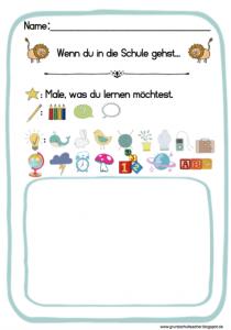 Vorbereitungen: 1. Schultag – Bilderbuch: Wenn ein Löwe in die Schule geht…