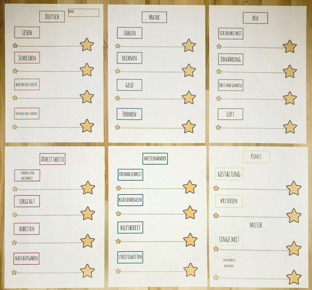 Lernentwicklungsgespräche / Halbjahresgespräche Vorgehen und Vorlage für die Schüler