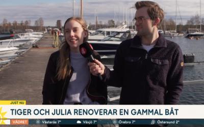 Tiger och Julia rustar för världsomsegling med eldriven äventyrsbåt