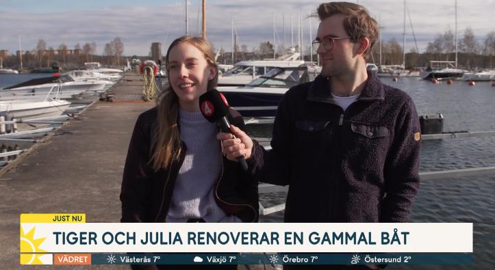 Julia och Tiger renoverar båt
