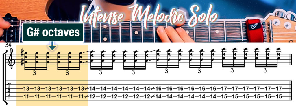 Octaves Melody Guitar Solo