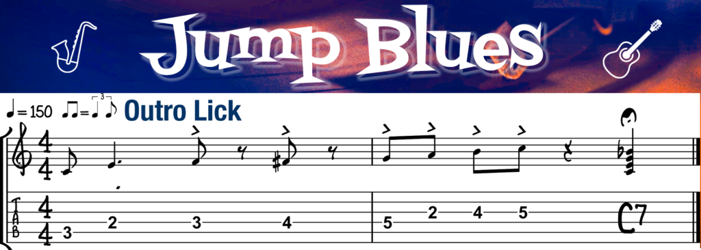 Jump Blues Outro Lick