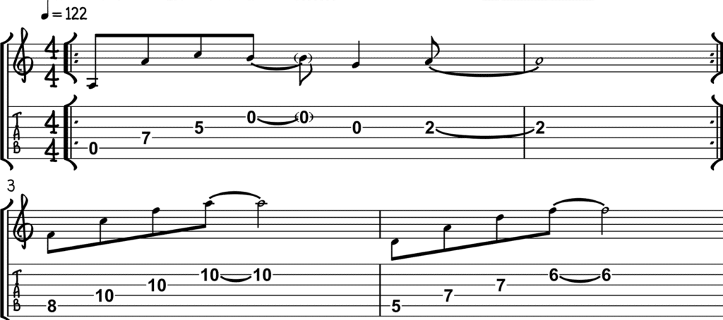 80s Guitar Chord Lick
