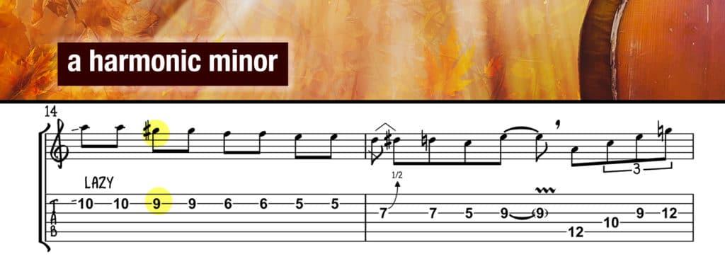 Harmonic Minor Lick