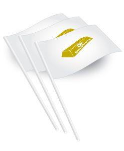 Tryk af papirflag med logo