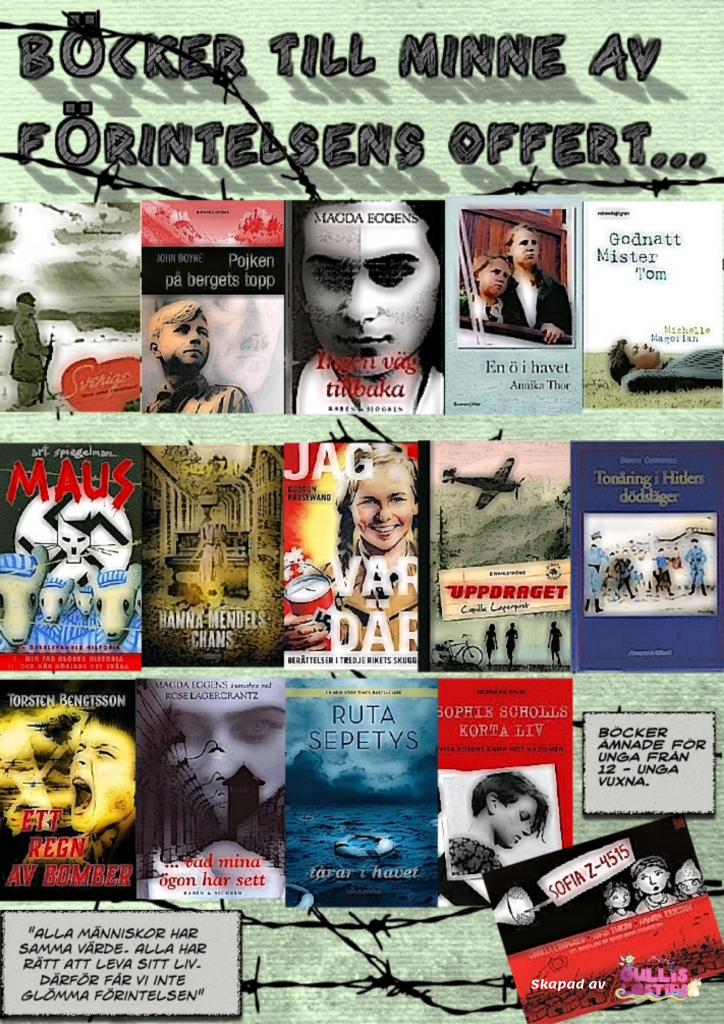 Böcker till minne av förintelsens offer - unga vuxna