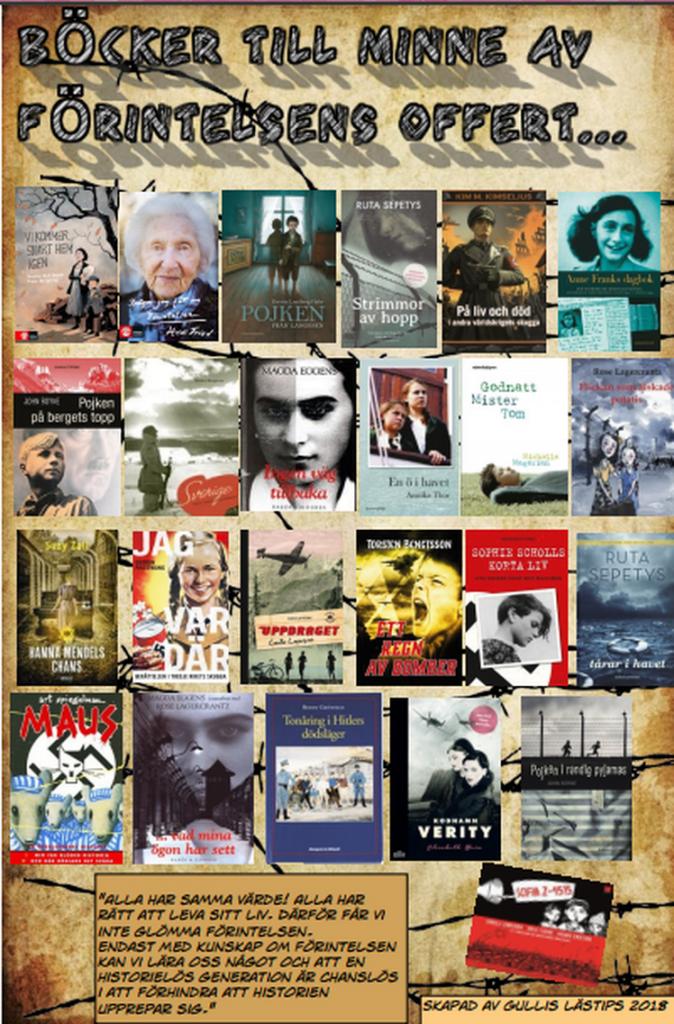 barn och ungdomsböcker till minne av förintelsens offer
