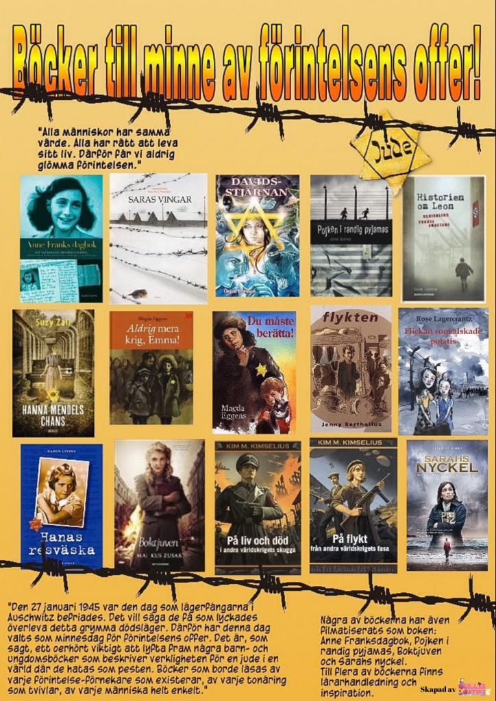 böcker till minne av förintelsens offer