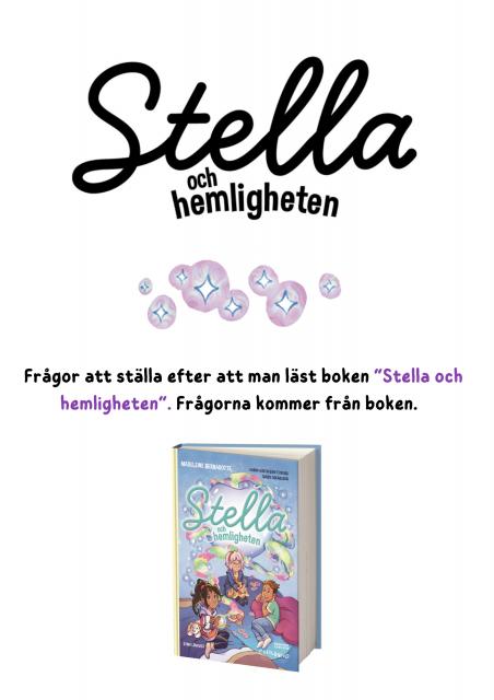 """Frågor till """"Stella och hemligheten"""" (1)"""