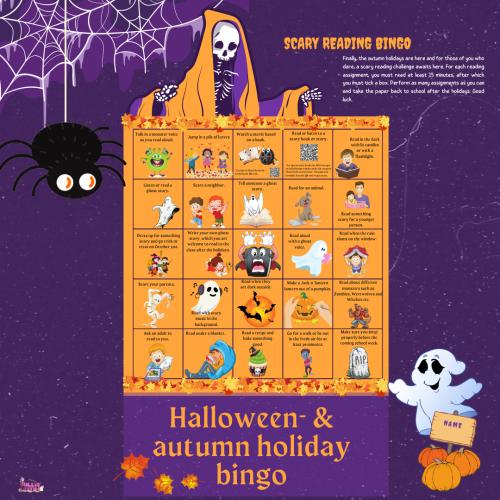 Halloween- & autumn holiday bingo (Instagram-inlägg)