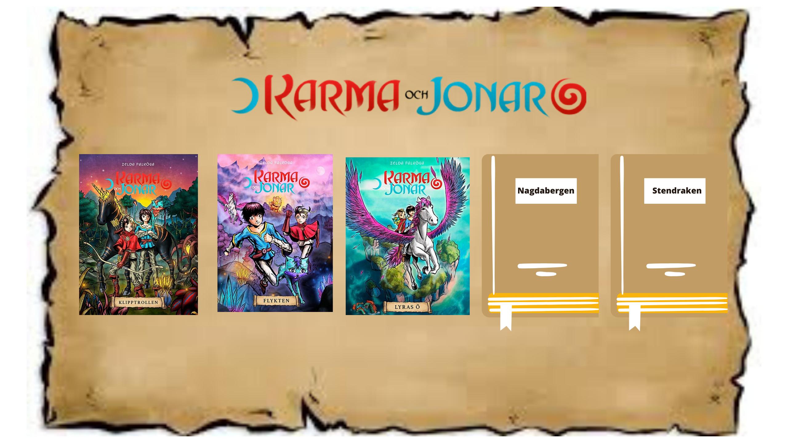 Karma och Jonar bokserie.