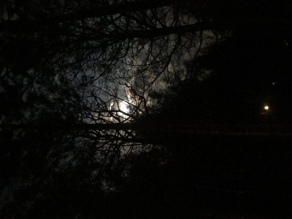 De nacht valt in Center Parcs Les Ardennes
