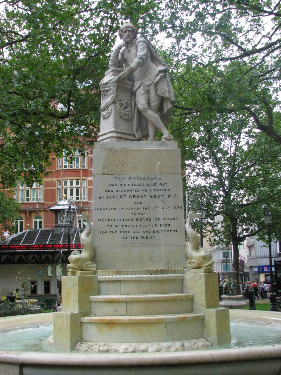 William Shakespeare op Leicester square