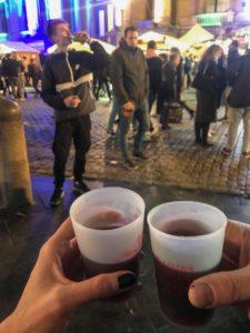Gluwein op de kerstmarkt in Brussel