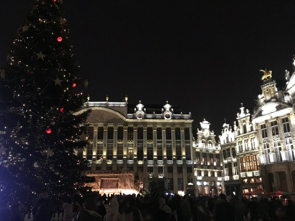 Kerstsfeer in Brussel