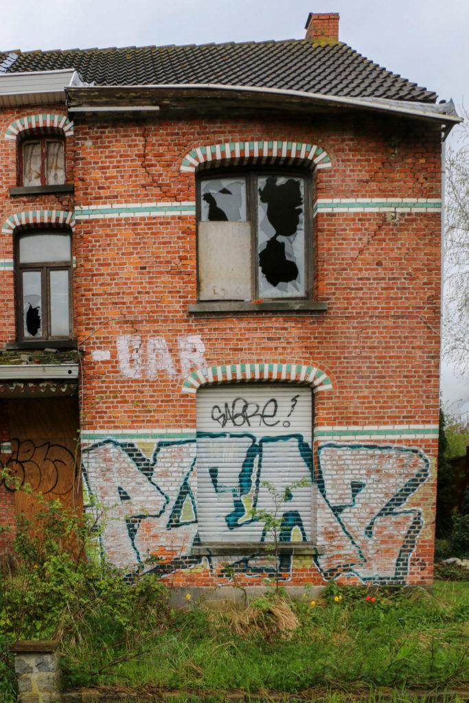 Verlaten huizen in Doel