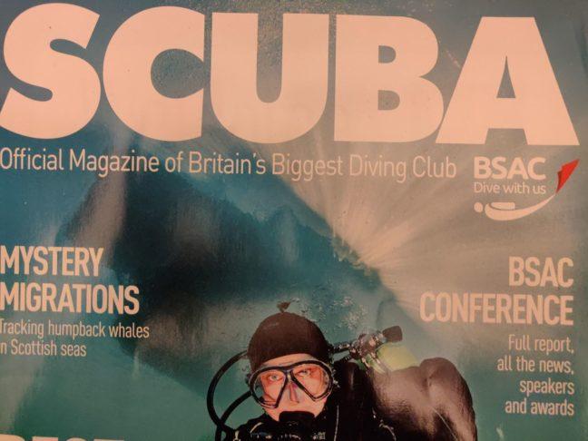 Scuba Magazine front coer