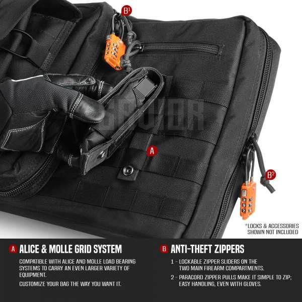 SAVIOR EQUIPMENT AMERICAN CLASSIC 42″ – DOUBLE RIFLE BAG