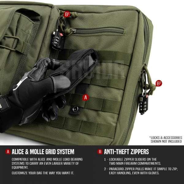 "Savior Equipment American Classic 46"" - Double Rifle Bag - Green"