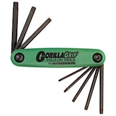 Bondhus - GorillaGrip 8 Star Tip Fold-up Tool T6 - T25