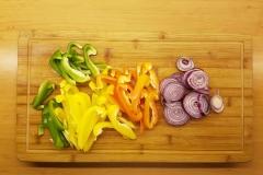 Gemüse klein geschnitten