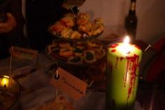 Kerze und Essen
