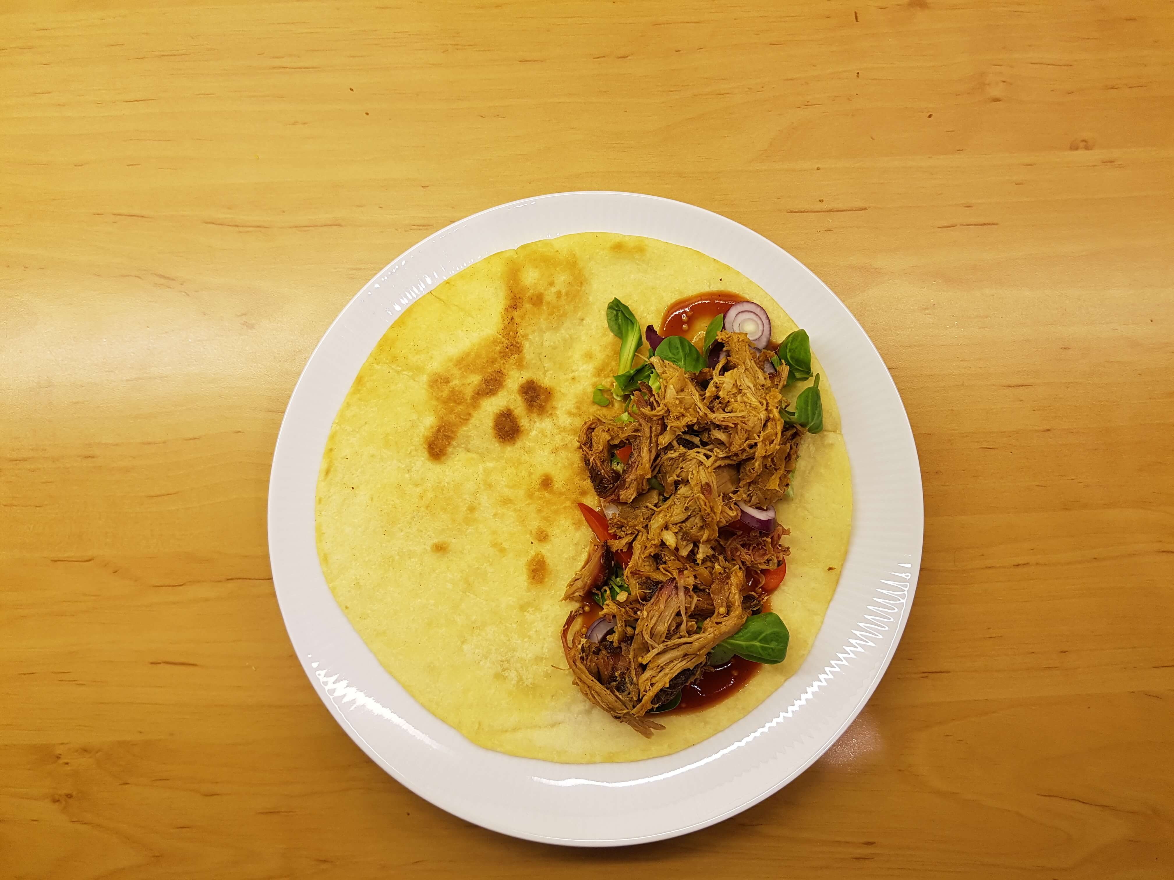 Butterwraps mit Pulled Pork