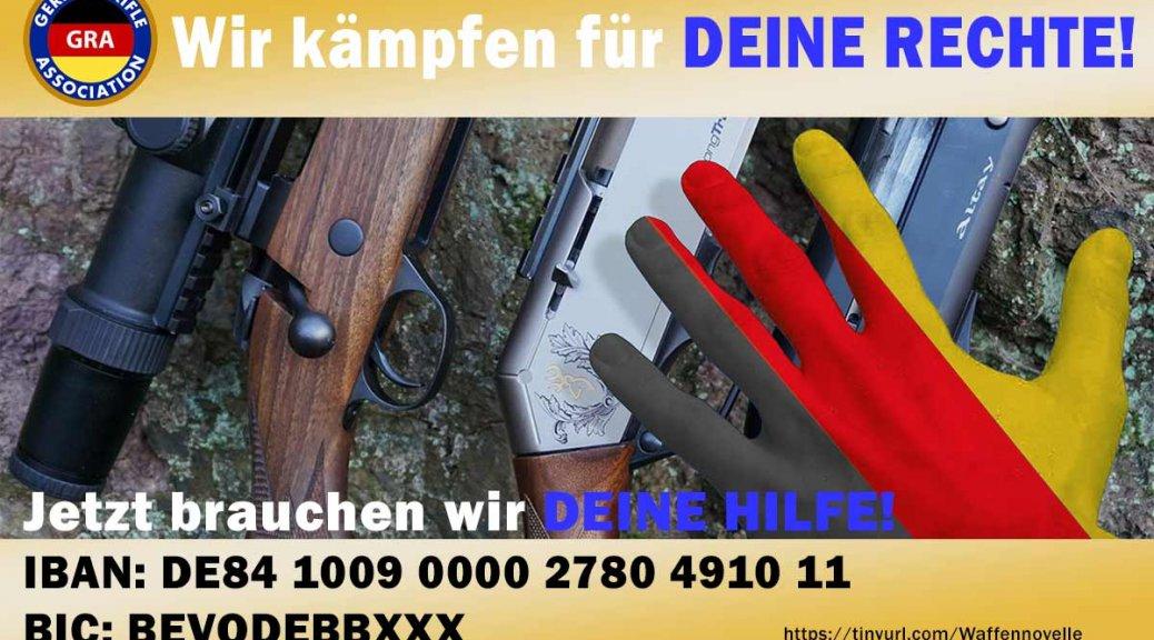 Spendenaufruf der German Rifle Association